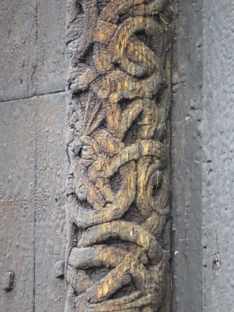 Carving on Church