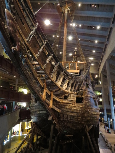 "The ""Vasa"" built in 1628"