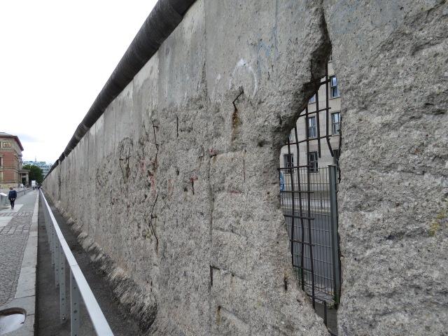 East Berlin side of the Wall