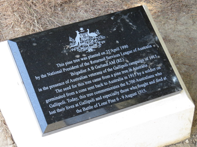 Interesting story on the plaque...