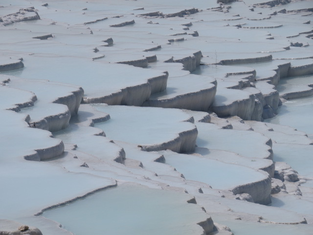 The famous tiered lakes of Pamukkale