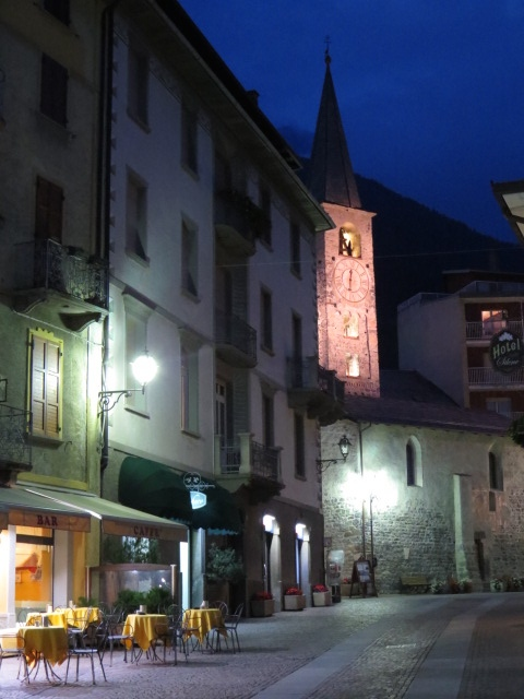 Beautiful Bormio by night