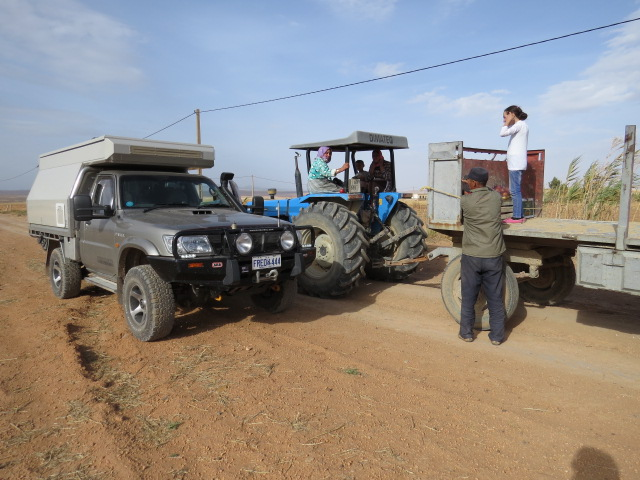 Local Farmer welcoming us to Morocco