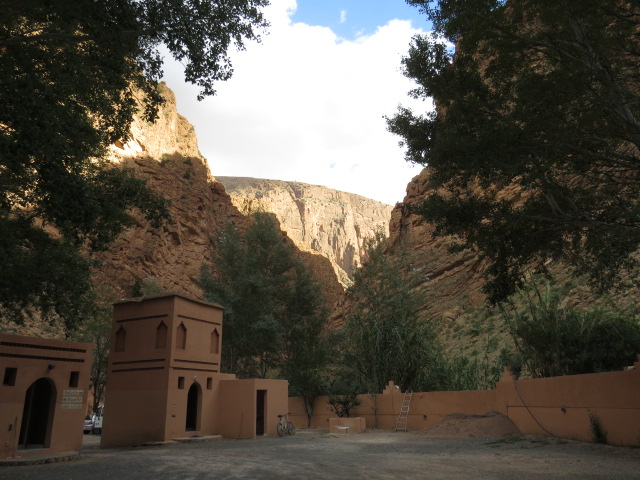 The entrance to Dades Gorge