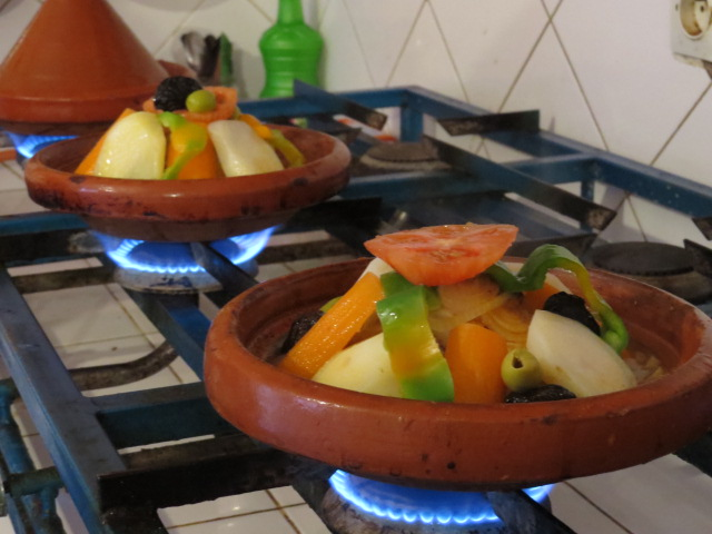 Our nights meal being prepared