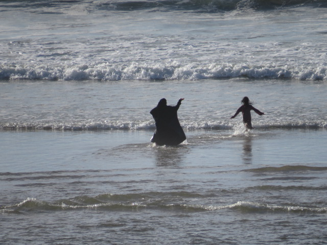 Locals swimming near Agadir