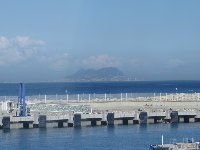 Gibraltar across the narrow sea