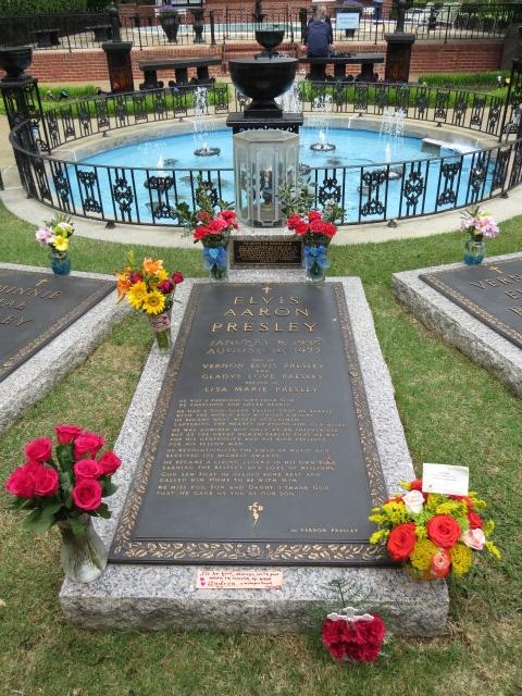 Elvis's Grave in the Garden