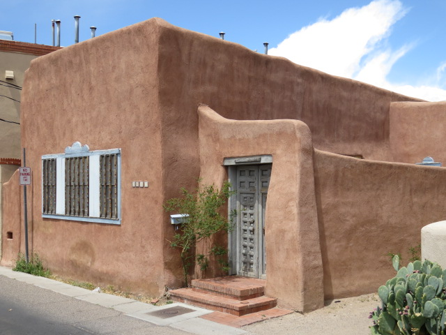 New Mexican Architecture in trademark dusty pink render
