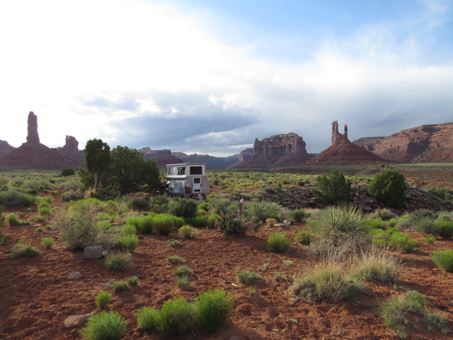 Camped at Valley of the Gods