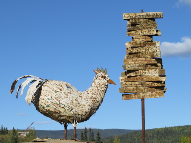 The town of Chicken, Alaska