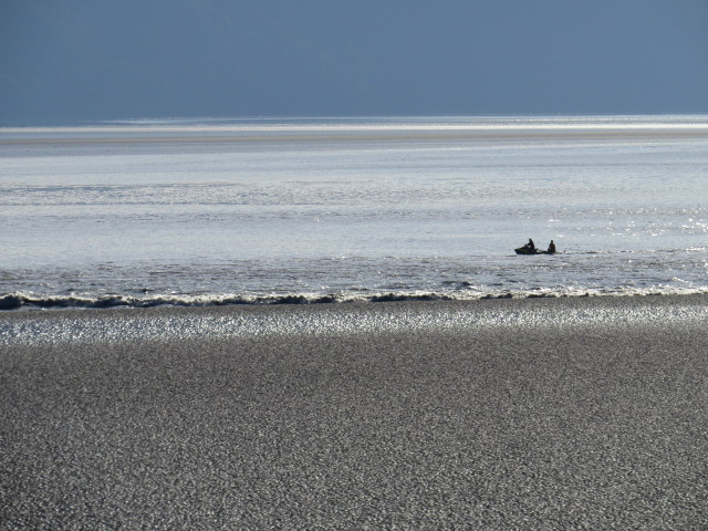 Bore Tide arriving in Turnagain Arm