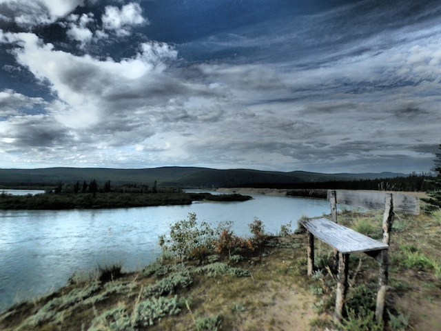 First Nation Fishing Camp on the Yukon River