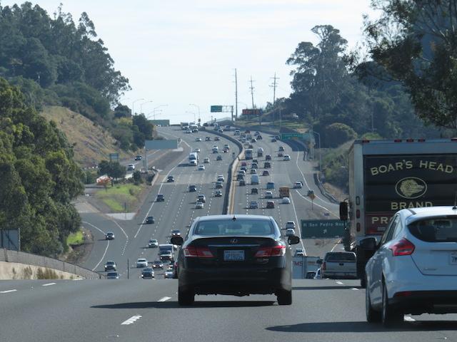 Traffic enroute to San Francisco