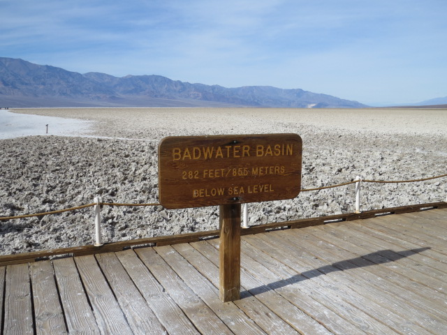 Badwater Basin 282ft Below Sea Level