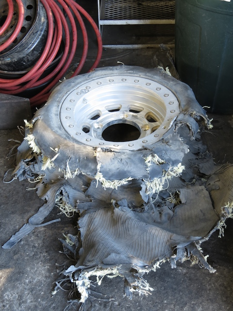 The guy who owned this tyre should've stopped sooner - speed may have been a factor??
