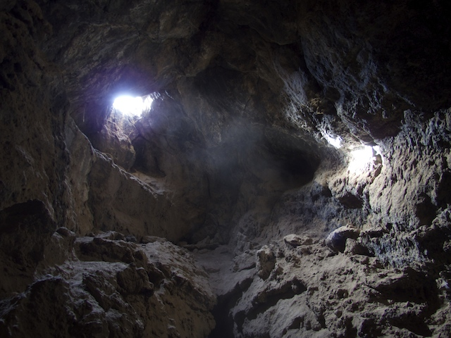 Inside Lava Tubes in Mojave NP