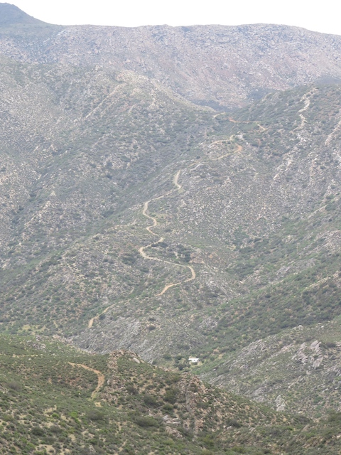 Rugged mountain trails