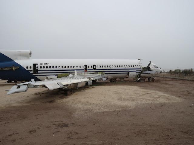 Crash test dummy aircraft just south of mexicali
