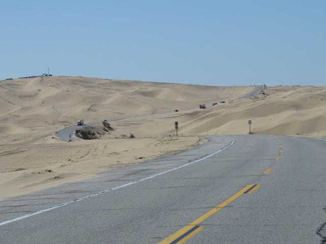 Highway through the Dunes