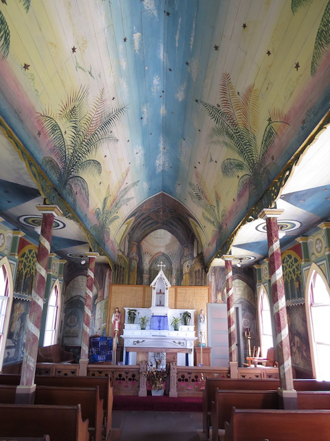 St Benedict's Painted Church south of Kona
