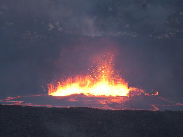 The lava lake in the Kilauea Caldera