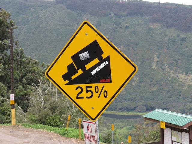 Steep Descent into Waipio Valley