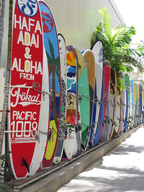 Longboards at Waikiki