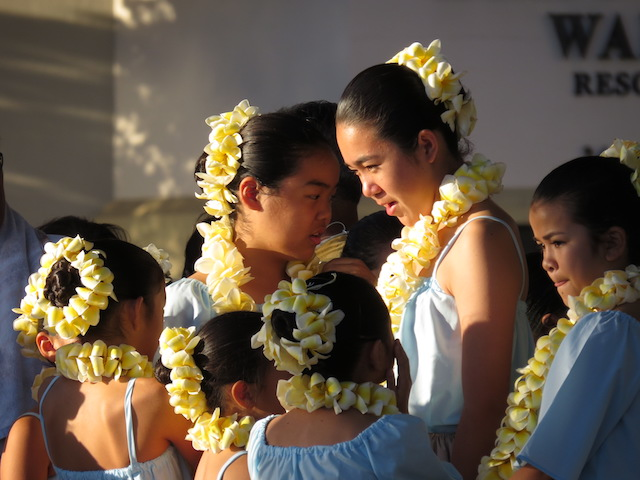 Hawaiian Hula Dancing School Students